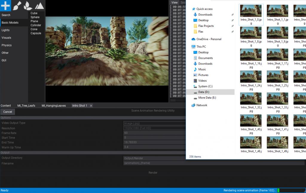 Scene Animations Rendering